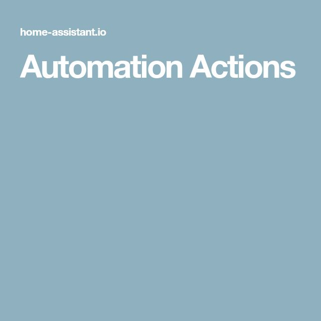 Automation Actions