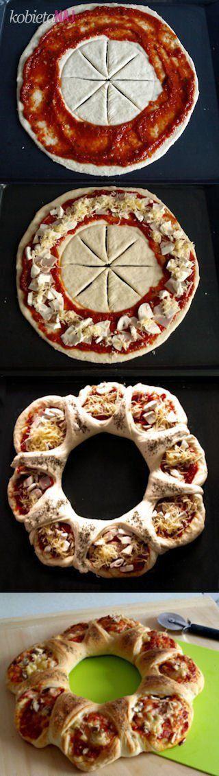 Przepis na nietypową pizzę zawijaną...