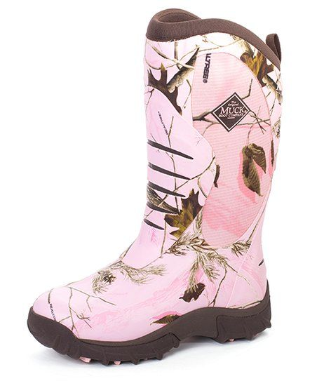 The Original Muck Boot Company Pink Realtree Camo Pursuit Stealth Boot - Women | zulily