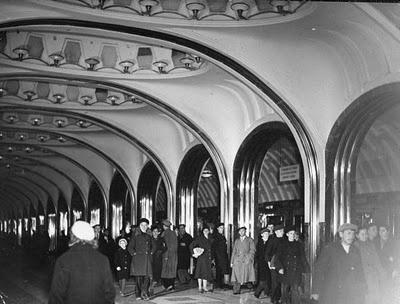 Mayakovsky metro, 1941, by Margaret Bourke-White.