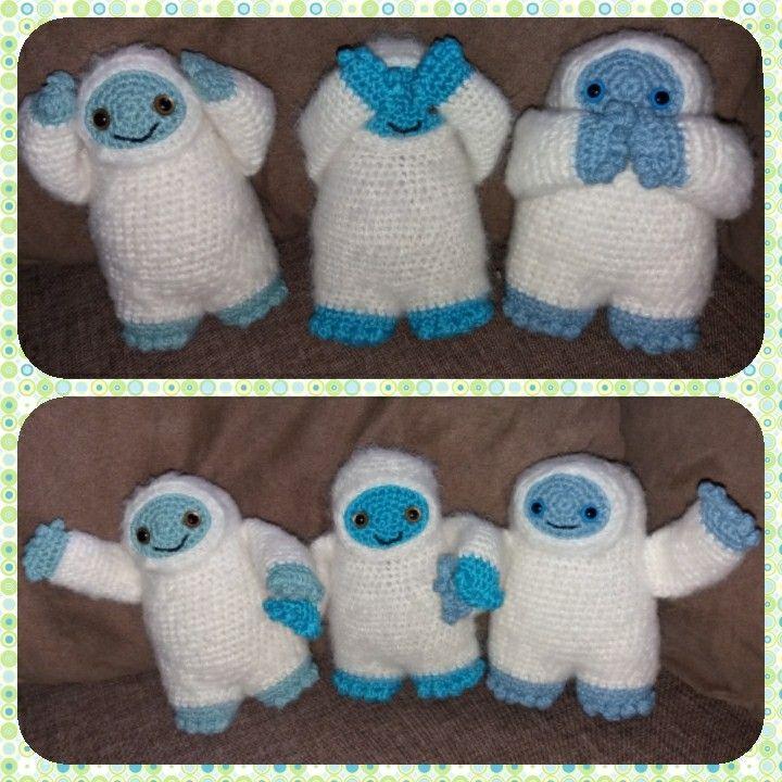 Horgolt jetik / Crocheted yeti