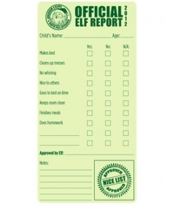 Printable Elf on the Shelf report cards