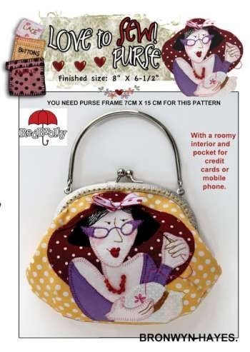 "Love To Sew Purse Large (8"") by Bronwyn Hayes for Red Brolly"