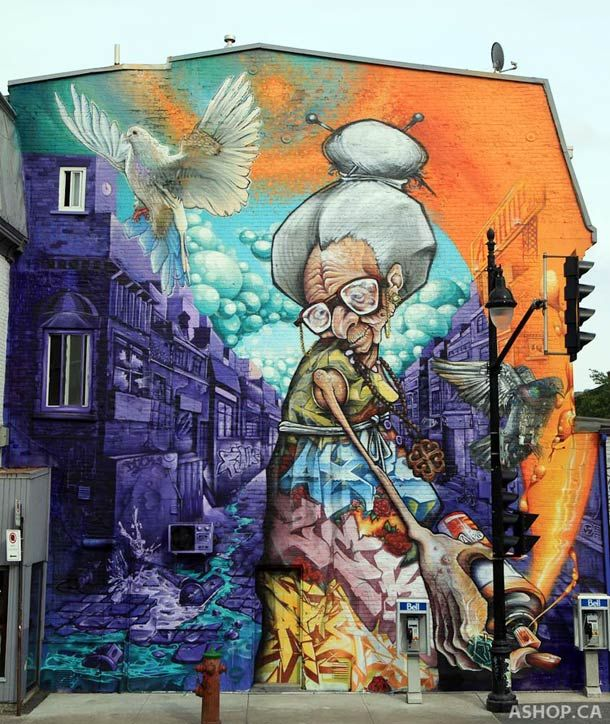 Montreal Street Art – The awesome murals by A'Shop