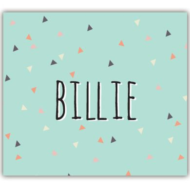 Geboortekaartje: confetti van driehoeken www.bollieboom.be