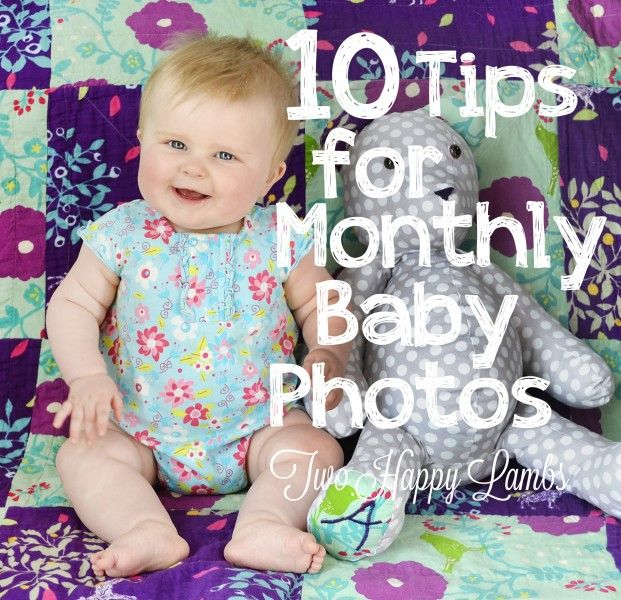 10 Tips for Monthly Baby Photos - editing info