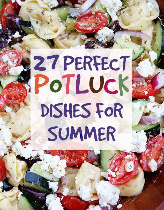 Potluck party foods
