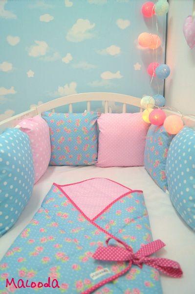 Tours de lit, Tour de lit de la collection Un amour de bonbons est une création orginale de Malooda sur DaWanda