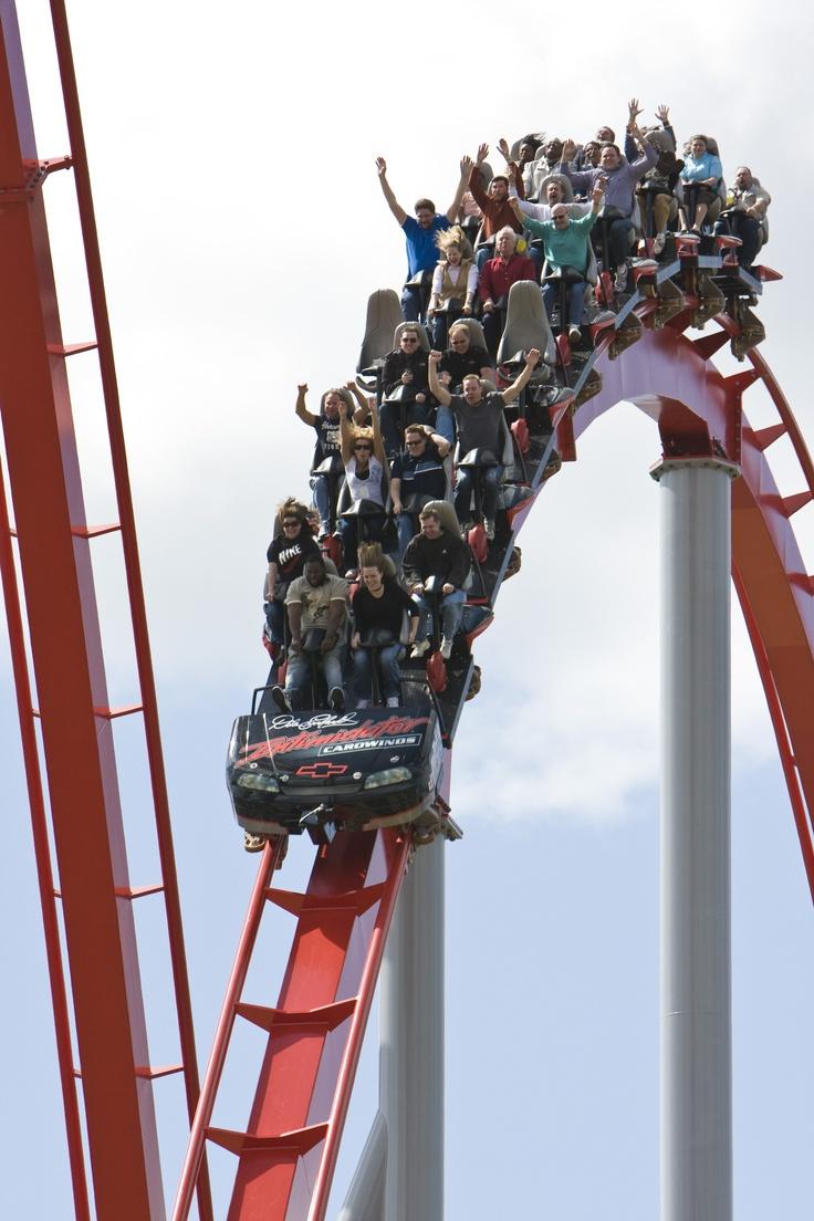 Intimidator roller coaster at Carowinds