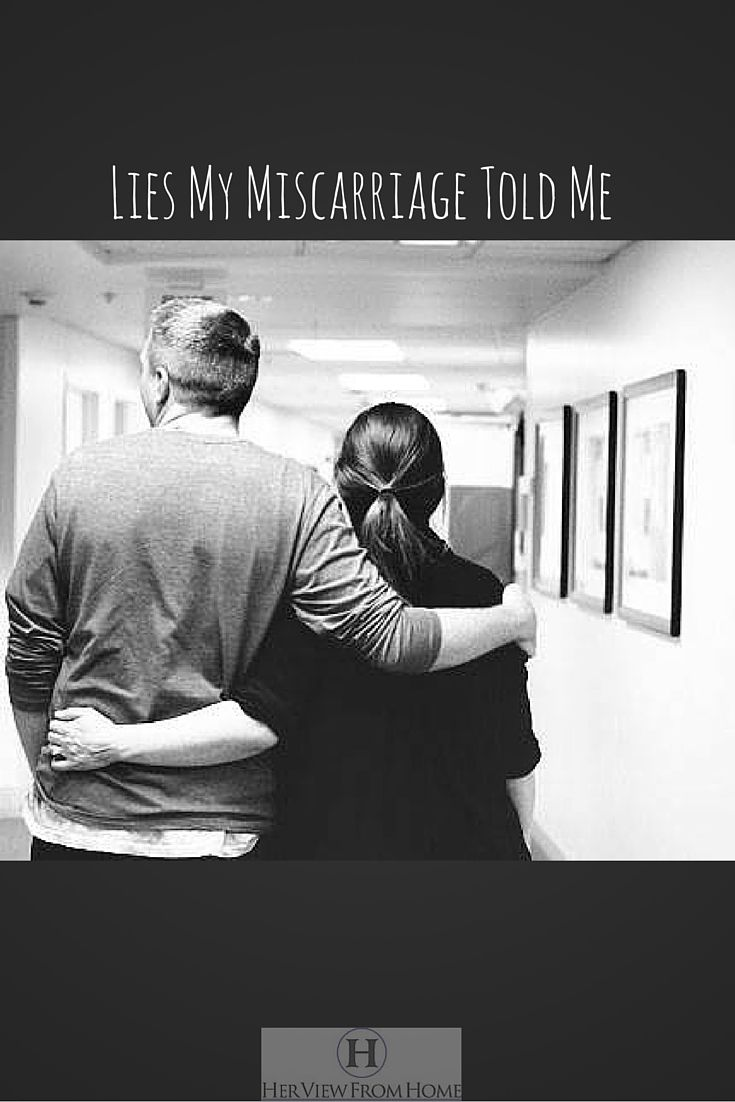Lies my miscarriage told me. A story of a woman struggling to make it through after pregnancy issues. Her View from Home blog post