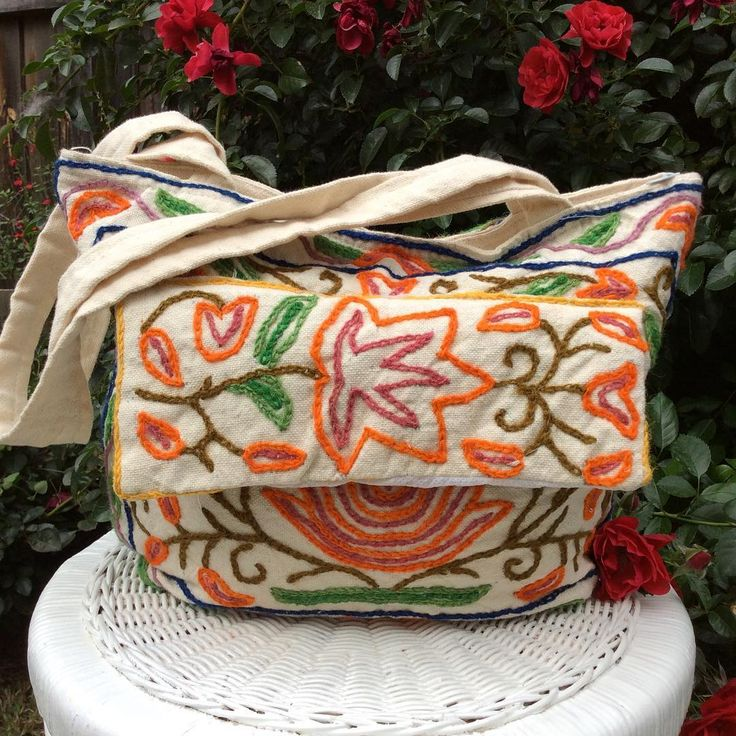 Last one standing!!! Our handstitched Aari work floral bag, this piece is handembroidered & the technique is called Aari work, it's done using a curved needle called an Awl....it's now on sale  #homedecor#homewares#bags#handmade#handmadegifts#handbag#embroidery#embroidered#shakiraaz#accessories#fashion#eclectic#bohemiandecor#bohemianstyle#colourful#artisanal#carrybag#mothersday#mothersdaygifts#florals