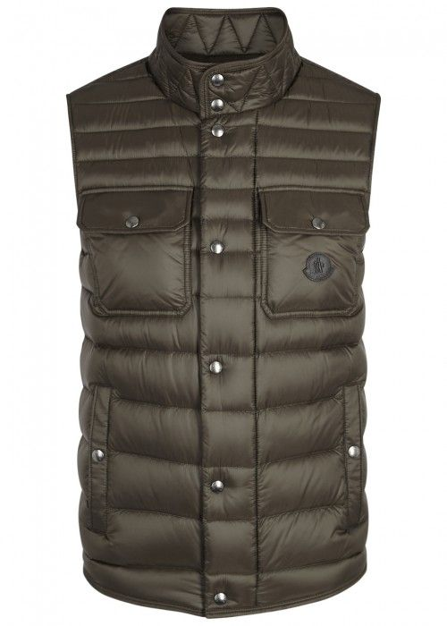 343816b0a MONCLER EVER OLIVE QUILTED SHELL GILET. #moncler #cloth # | Moncler ...