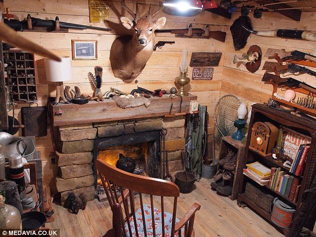 Hunting Lodge Man Cave Ideas : Best library man cave ideas images home