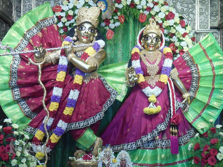 Today's (18-April-2017) Special Alankara for Sri Sri Radha Krishnachandra on 8th day of  Brahmotsava celebrations @ ISKCON Bangalore.