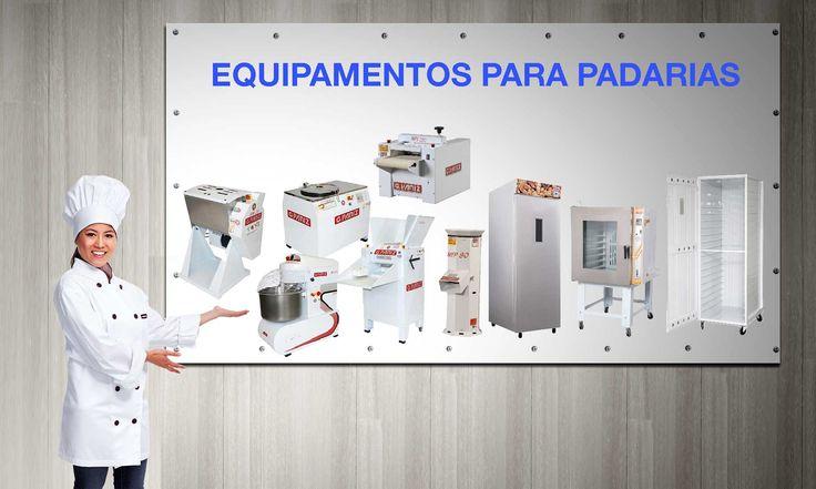 Equipamentos para Padarias, Confeitarias, Cozinhas Industriais e segmentos da Industria da Panificação e da alimentação profissional.