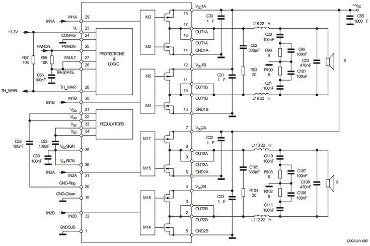 2 x 200W or 400W BTL Power Amplifier ~ AmplifierCircuits
