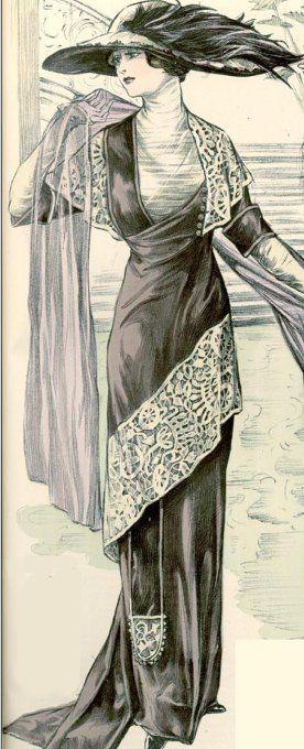 Платье в стиле модерн