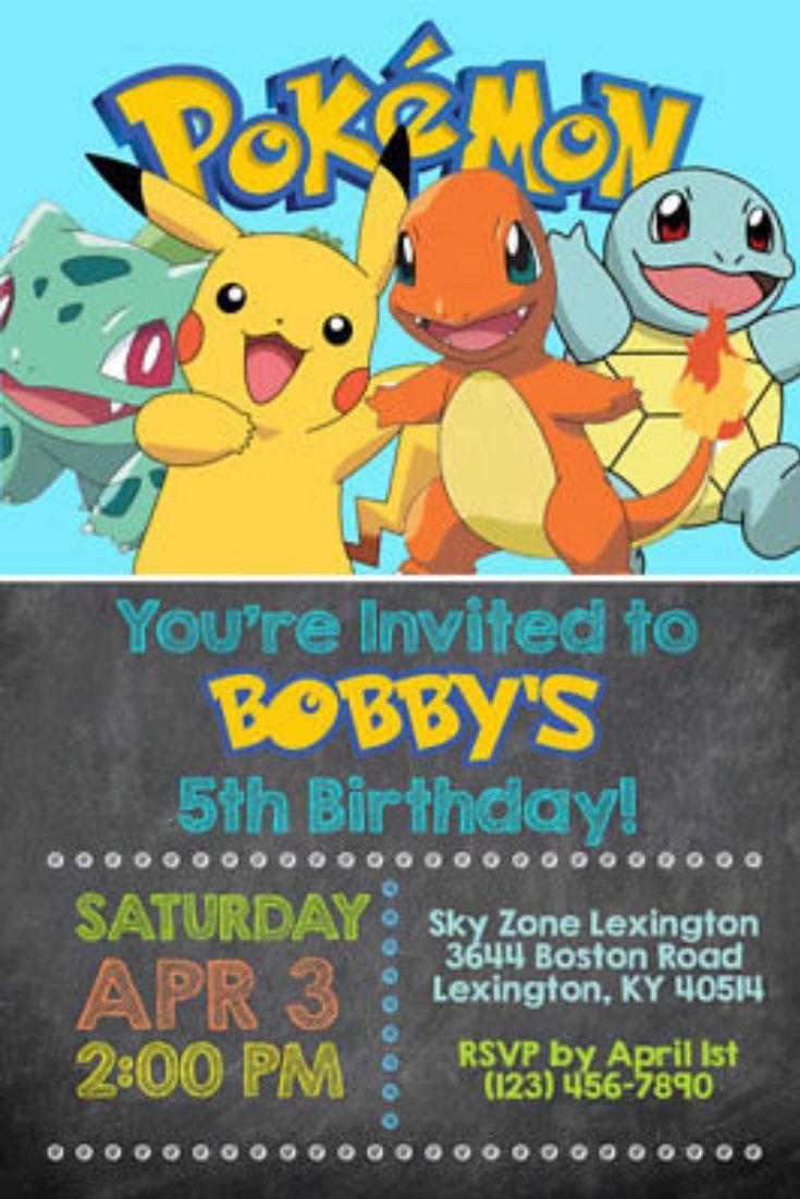 Pokemon Invitations Personalized Birthday Party Shipped Or Printable Ebay Pokemon Invitations Pokemon Birthday Pokemon Birthday Party