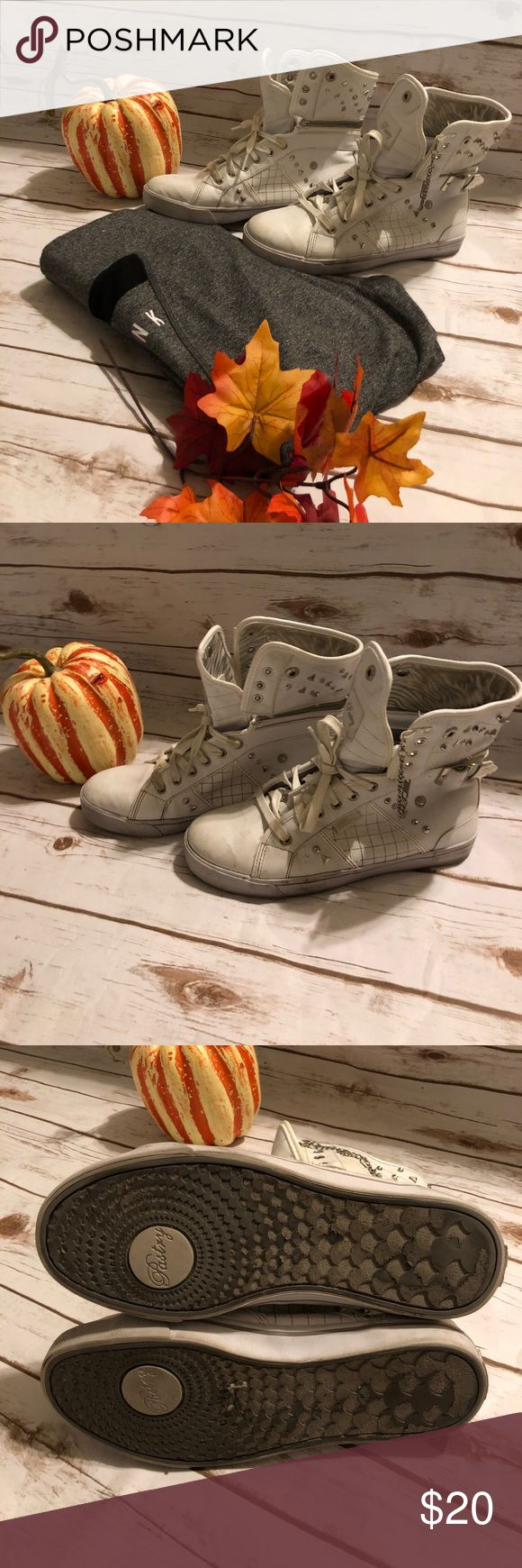 White pastry high top sneaker size 8.5 Used condition still plenty of life left. Fun high top sneaker. pastry Shoes Sneakers