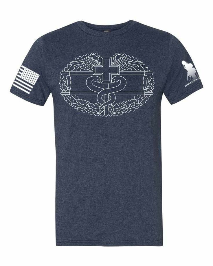 US Army Combat Medic Badge Blue T-Shirt