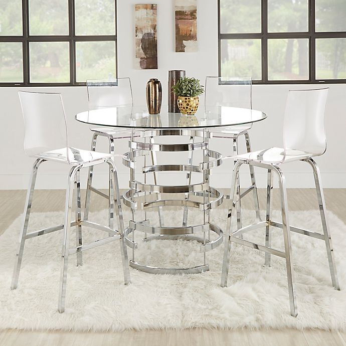 Verona Home Ithaca 5 Piece Counter Height Dining Set Bed Bath Beyond Sets Table Chairs
