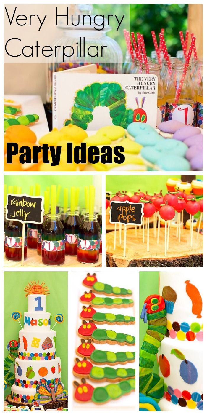 Check out this fun Very Hungry Caterpillar birthday party, especially the birthday cake! See more party ideas at CatchMyParty.com. #boybirthday #kidspartyideas