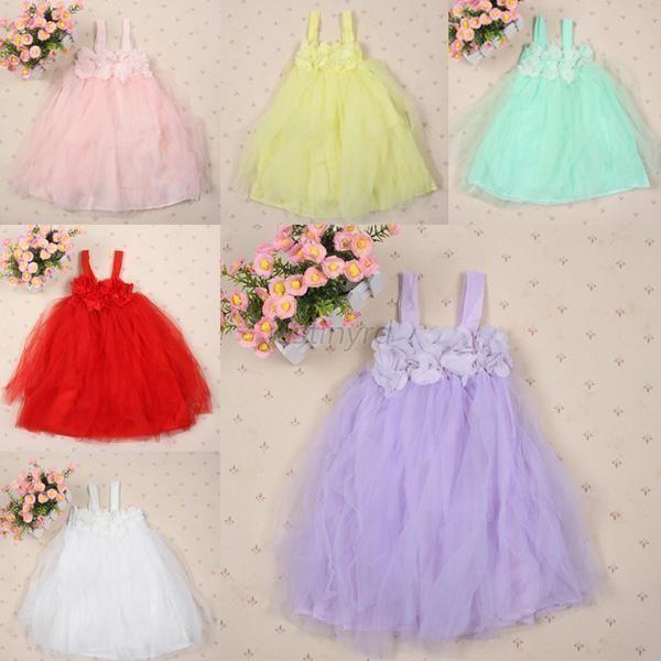 Süß Baby Kinder Mädchen Blumen Tüll Kleid Prinzessin ärmellos Tutu Rock Sommer in Kleidung & Accessoires, Kindermode, Schuhe & Access., Mode für Mädchen | eBay