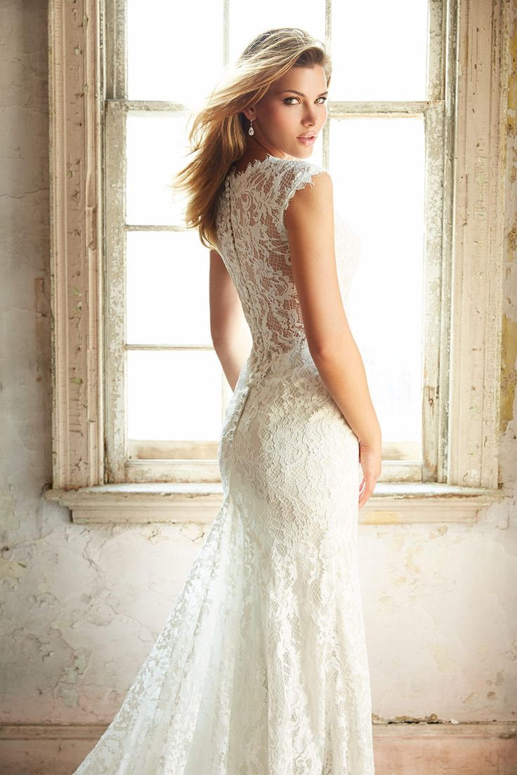 17 best images about lace wedding dresses on pinterest for Lace dresses for weddings