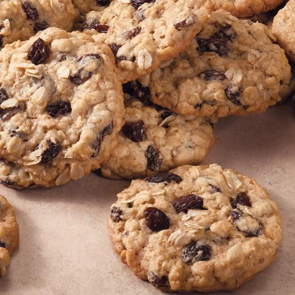 You can still enjoy a cookie and not feel guilty when you're having an Oatmeal Raisin Cookie.  This classic cookie is a healthier alternative to your chocolate chip cookie but still just as scrumptious with juicy raisins and hearty oatmeal.  These cookies are perfect for school lunches or an any-time snack.