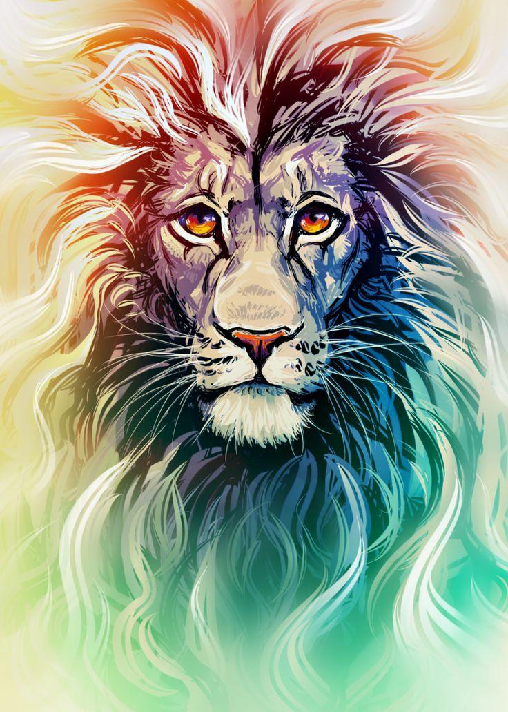 Lion Portrait by Kawiku.deviantart.com on @DeviantArt