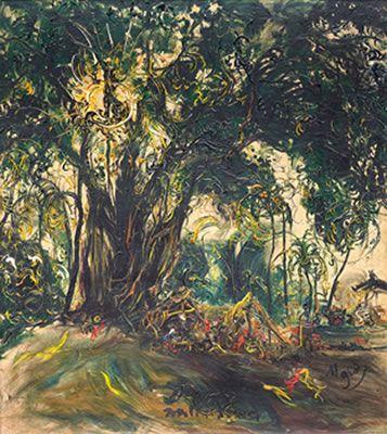 Artist Affandi Koesoema (Cierbon, West Java 1907~1990) was a painter aka Maestro Painting Indonesia.