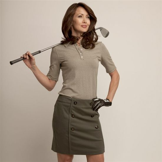 bringing classy back in this olive ladies golf outfit #golf4her #lizziedriver