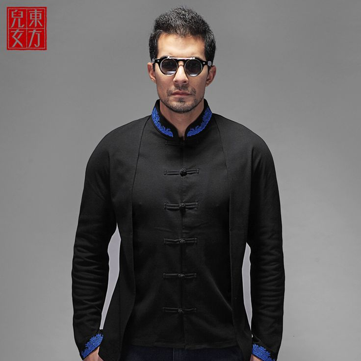 Fantastic Oriental Style Frog Button Blouse - Black - Chinese Shirts & Blouses - Men