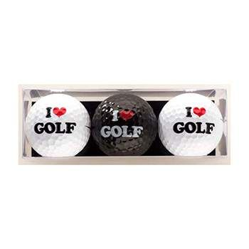 Golf Gifts I Love Golf Premium Golf Ball Gift Pack (3 Balls) at golfessentials.in