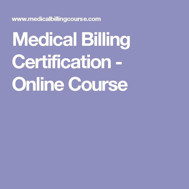 Medical Billing Certification Online Course College Info