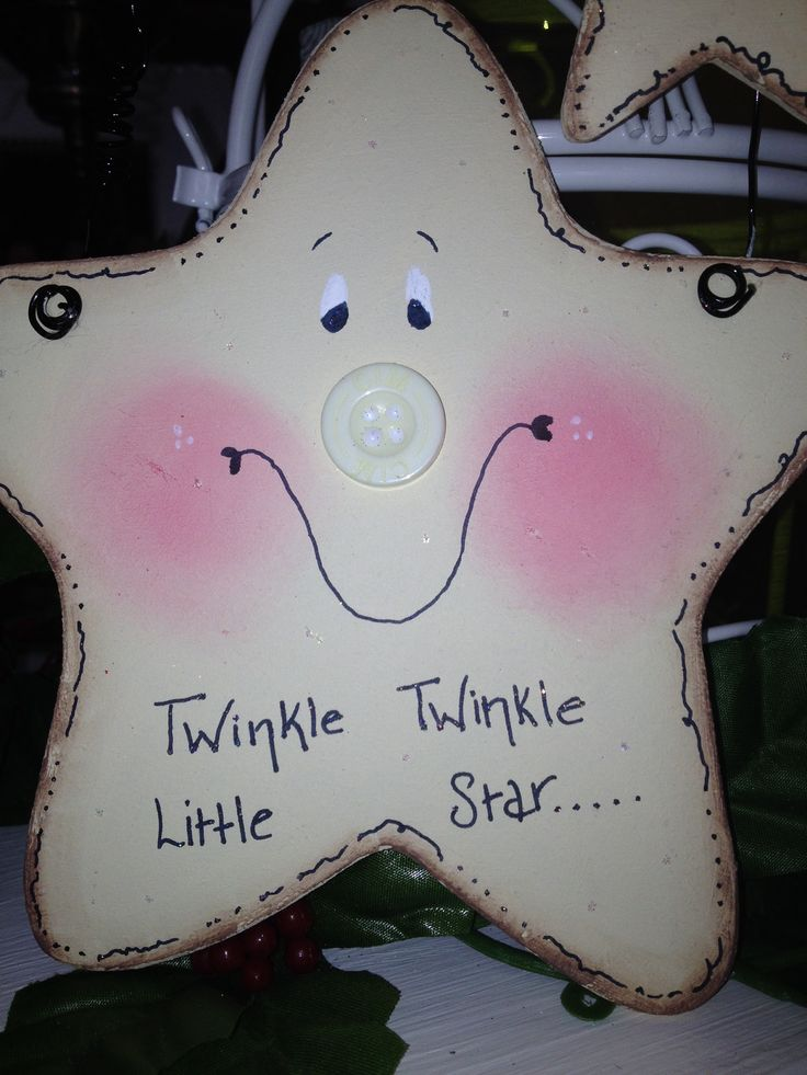 Hanging star -~~~~ can add smaller star to wire with personalisation x
