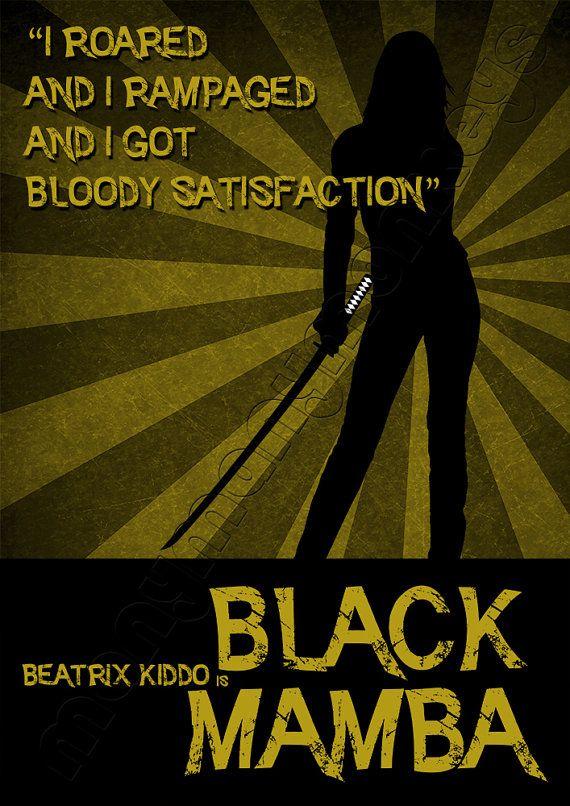 Kill Bill Wall Art (Black Mamba)