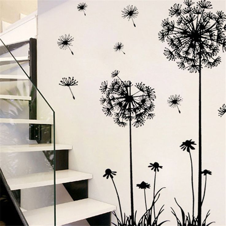 Dandelion Wall Sticker PVC //Price: $9.99 & FREE Shipping //     #DIY