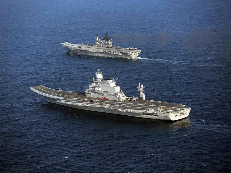 Indian Navy old & new - aircraft carriers INS Viraat & INS Vikramaditya.