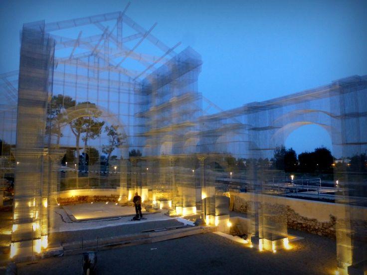 L'installazione di Edoardo Tresoldi per la Basilica paleocristiana di Siponto © Giacomo Pepe - CoSA | Contemporary Sacred Art
