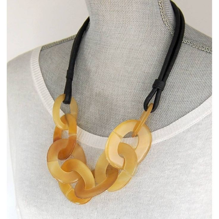Bold horn necklace