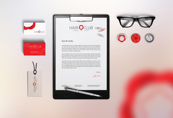 Hair Club  Hair Club Corporate Brand Identity |  Logo |  Business Card Design |  Web Design |  Hair