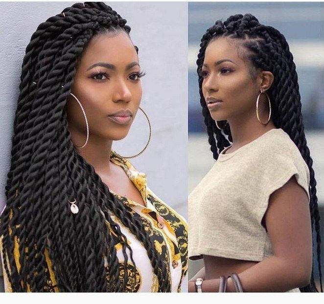 30 Trending Braided Hairstyles For Black Women 13 Twist Braid