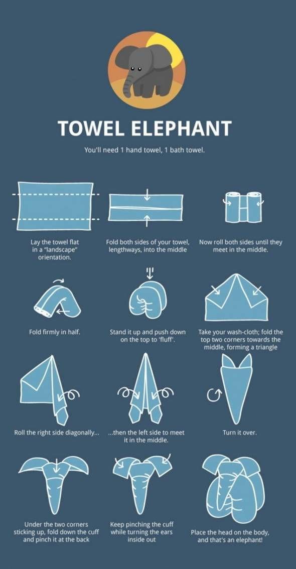 Idées créatives - Elephant de serviette bricolage