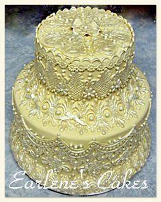 ~ Sugar Teachers ~ Cake Decorating and Sugar Art Tutorials: Earlene Moore's Enhanced Fondant Lace Tutorial