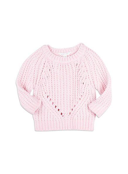 Pumpkin Patch - knitwear - chenille jumper - W5EG30007 - crystal pink - 2 to 12