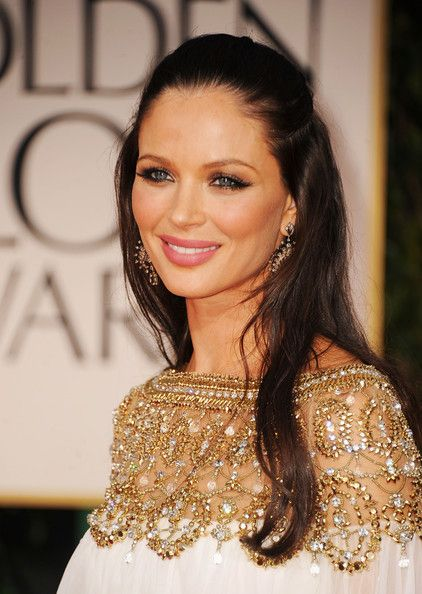 Georgina Chapman: Elegant Makeup, soft waves. Timeless beauty.