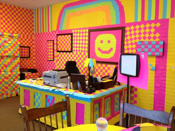Office Prank Over 10000 Post Its Used Things That
