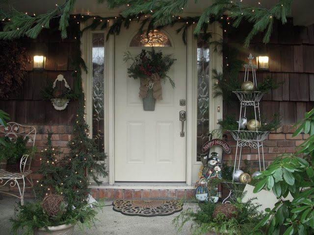 Christmas Front Porch | This 3 Tiered Stand Always Gets The Treatment. I  Needed · Christmas Decorating IdeasHoliday ...