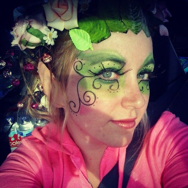 Close up of my faerie make-up.